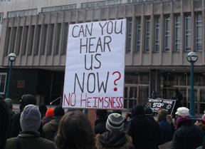 Rally outside City Hall