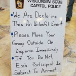 Capitol Police sign