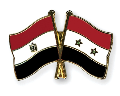 Egyptian and Syrian Flag Pins