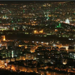Night view of Damascus, Syria