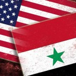 u.s. and syrian flags