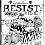 Promotional Poster for Print and Resist in Madison
