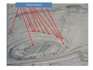 Aerial photograph showing illegal wells