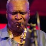 Bobby Watson playing saxophone