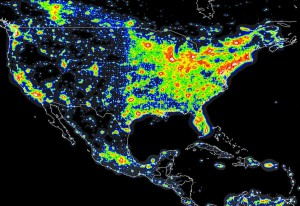 Light pollution in North America (David Lorenz, UW Madison)