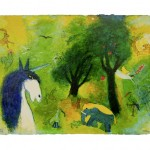 Picture of a Unicorn Painting