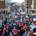 Thousands Protest Right-to-Work