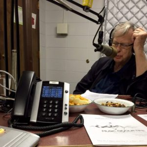 Dale Warland on air with Ena Foshay