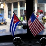 Cuban and American flag