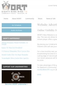 Website advertising example