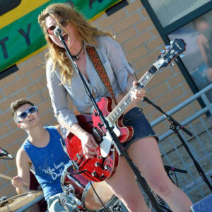 Meghan Rose performing at Willy Street Fair