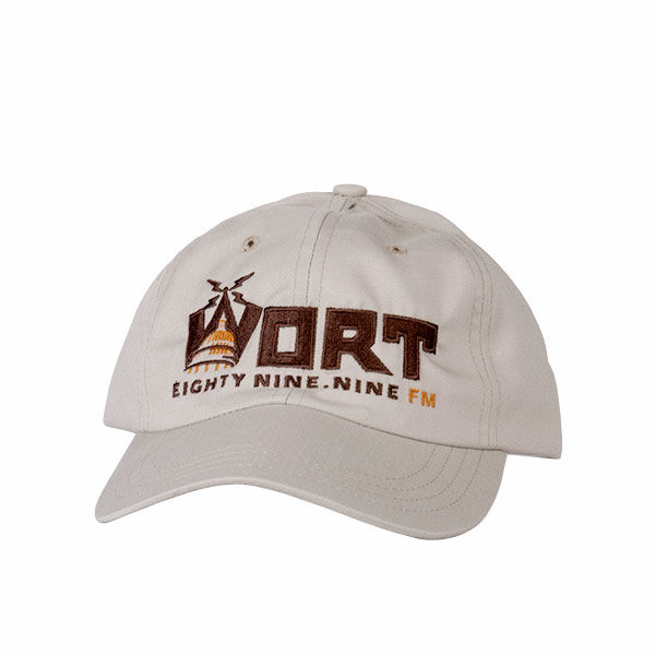 Cap with embroidered WORT logo.