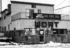 Image of WORT's original location on winnebago Street.