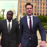 "Daily Show video still from ""Are-All-Cops-Racist"" segment."