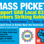 Kohler strikers unite against 2-tier wages