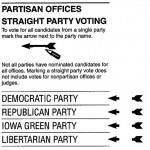 More Straight-Ticket Voting But Less Party Loyalty