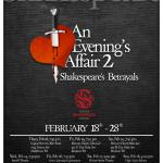 "Madison Shakespeare Co: ""An Evening's Affair 2: Shakespeare's Betrayals"""