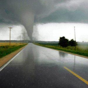 Tornado Crossing Wisconsin Road