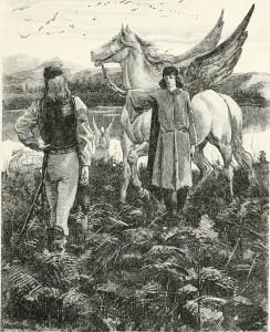 Pegasus with Paladin & Saracen (1882)