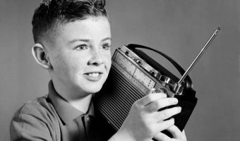 kid with radio