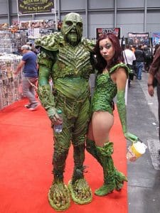 Swamp Thing meets his mate, Poison Ivy (photo by Docking Bay 93)