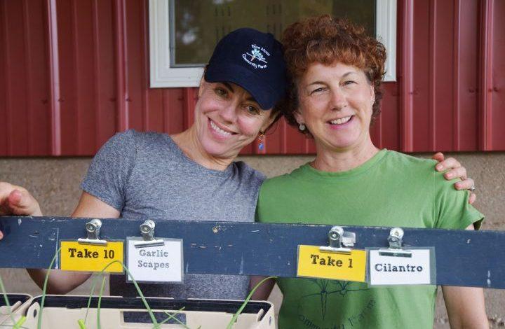 Two female volunteers