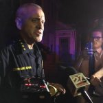 Photo of MPD Chief Koval delivering statement.