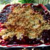 Finished Plum Crumble