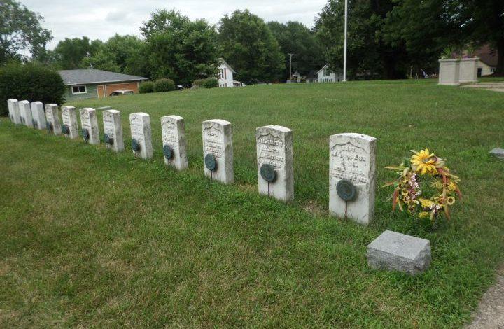 12 graves where militia men are buried