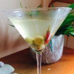 Perfect Gin Martini (Dirty)
