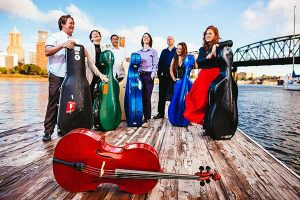 Roll on, Columbia! The Portland Cello Project in their hometown