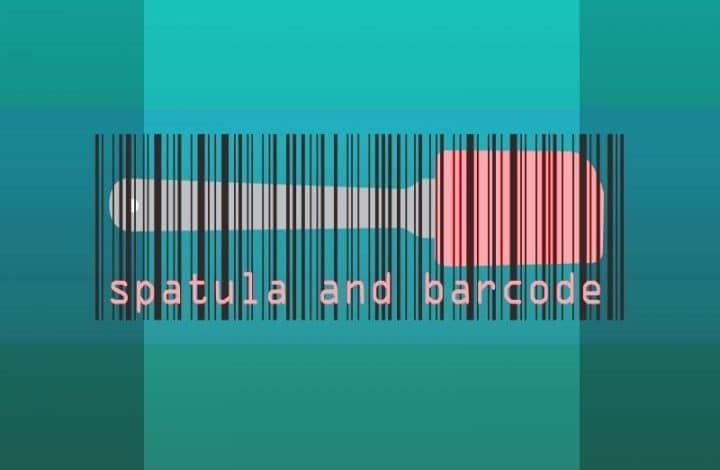 Montage image of the Spatula and Barcode.