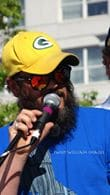 "Mr. ""Smokey"" G, WORT host at the mic"