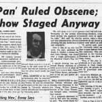 Two Nudes Are Bad News for UW; Psychedelic Peter Pan Provokes Prosecution and Repression – October, 1968