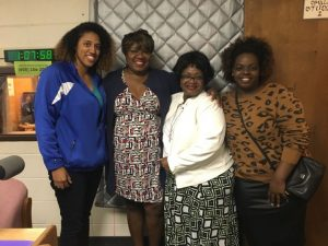 Lilada Gee hosts during Domestic Violence Awareness Month
