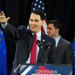 Photo of Scott Walker at 2014 Victory Party from: wikimedia.org