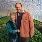 Bill Warner and Judy Hageman on Winter Spinach at Snug Haven Farm