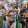 Australia's Madeleine Pape (left) during her heat for the women's 800 metres.