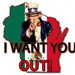 Illustrating Uncle Sam Image of Uncle Sam Saying I Want You Out!