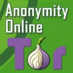 "Compilation image of Tor Project logo on green background and the words ""Anonymity Online"""