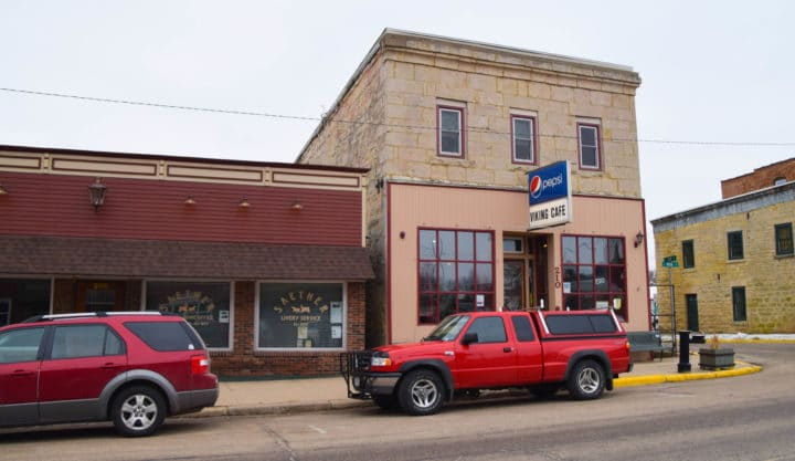 Storefront and bar  on main drag of iBlanchardville