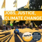 "Image is portion of poster advertising the ""Madison Climate March"" event."