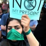 Iranian Woman Protests Election