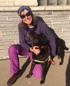 Deb Biechler and her very cute dog
