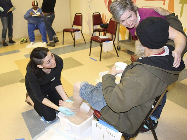 First United Methodist Church and MACH1 Bring Foot Care to Homeless
