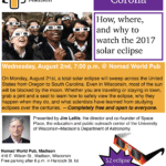 Science on Tap: The Solar Eclipse and You