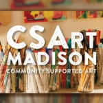 Image of the words CSArt Madison community supported art from https://artlitlab.org/