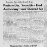 Madison, 1962: Movements Keep Moving