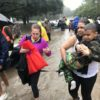 Hurricane Harvey victims flee flooded Houston