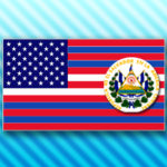 Mash-Up of US and El Salvador flags by Stephen Lord